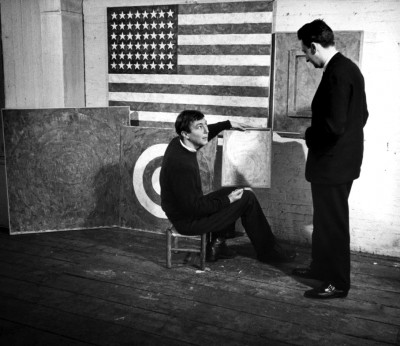 american artist Jasper+Johns at work