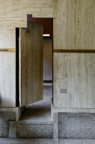 Architecture by Carlo Scarpa hallway door