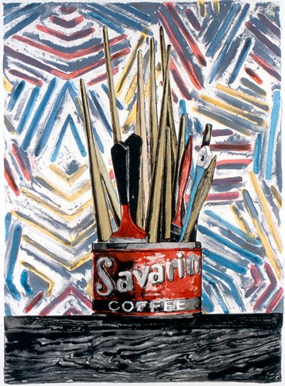 jasper-johns-savarin-1977 artwork