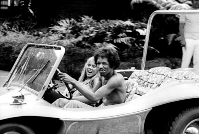 001_Hendrix drives a dune buggy-October 6-1968-Honolulu- Hawaii.