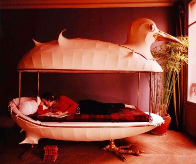 Francois-Xavier & Claude Lalanne designed bed is for the birds