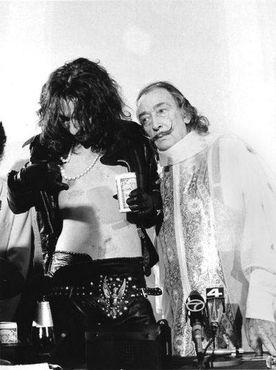 1973-dali and alice cooper press conference
