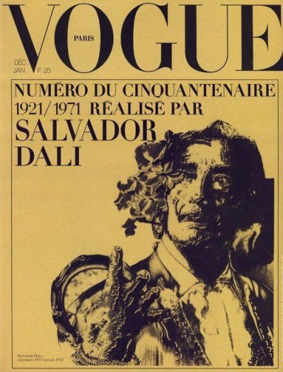 Salvador Dali French Vogue's December issue cover 1971