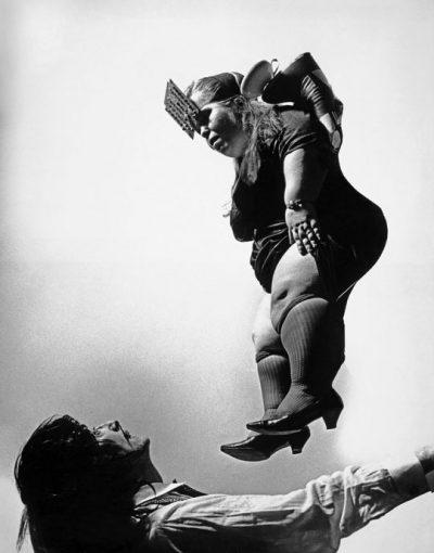 Halsmann photo of dali and flying dwarf