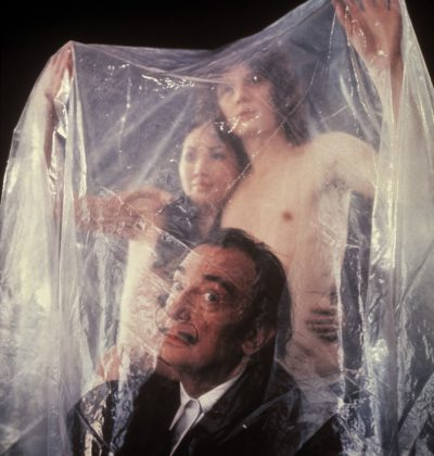 Spanish painter Salvador DALI with naked hetero couple
