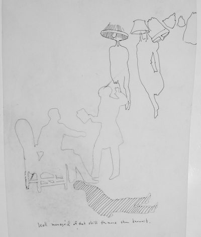 robert munford Pencil Drawing; 34x19.5 cm