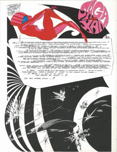Saga de Xam is a psychedelic comic page lay out