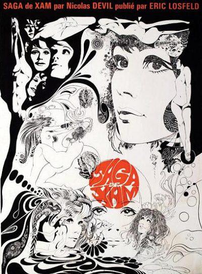 Saga de Xam is a psychedelic page layout
