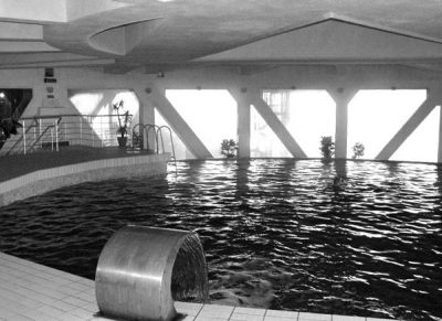 indoors pool Druzhba (friendship) Sanatorium by Igor Vasilievsky brutalism architecture
