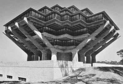 Geisel Library, University of California, San Diego, California, USA, 1970 by William Pereira & Associates. Courtesy University of California, San Diego