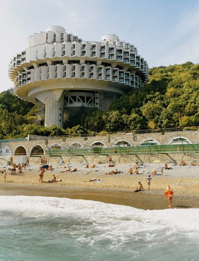 Druzhba (friendship) Sanatorium by Igor Vasilievsky, 1986, Yalta, Ukraine brutalism architecture