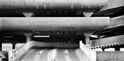 Tricon shopping centre and carparking brutalism architecture