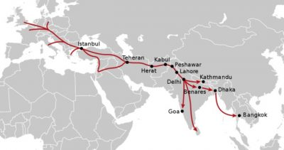 hippie trail map