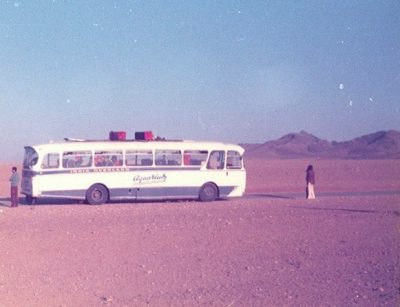 bus in the desert 60s70s