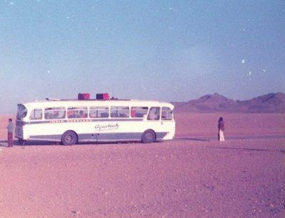 bus in the desert 60s70s