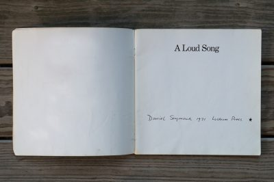 a loud song by daniel seymour spread page