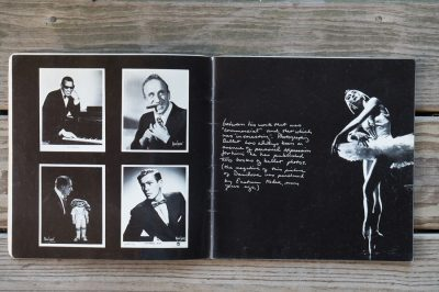 A loud song by Lundsrum Press page spread old hollywood